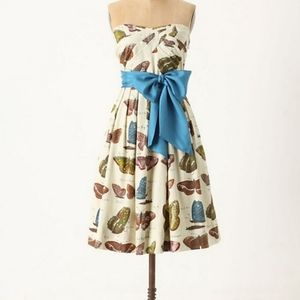 8 NWOT Anthro Maeve Lepidoptera Butterfly Dress